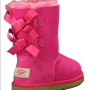 UGG Australia bailey bow hot pink boots